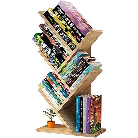 Homfa Estantería para Libros Librería de Árbol Estantería de ...