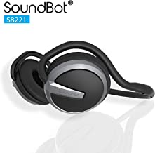 SoundBot¨ SB221 HD Wireless Bluetooth 4.0 Headset Sports-Active Headphone for 20Hrs Music Streaming & 25Hrs HandsFree Calling w/Sweat Resistant Ergonomic Secure-Fit Design & Voice Command Support