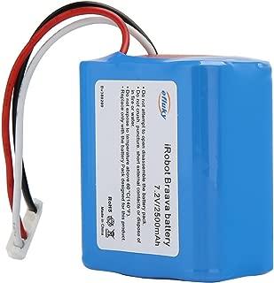 efluky ブラーバ 380J バッテリー 充電池2500mAh for Irobot Braava 371J/380T/Mint Plus 5200 5200c 5200B 対応 7.2V 交換用ニッケル水素 汎用 7.2V 大容量 充電池2000mAh/2500mAh / 3500mAh (2500mAh)