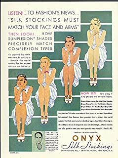 fef691a57f Fashion's News - Silk Stockings Must Match Your Face & Arms Onyx Hosiery ad  1930