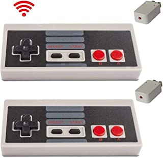 2 Packs Wireless Controller for NES Classic Edition, with Build in Rechargeable Battery Gamepad Compatible with Mini NES, Nintendo Entertainment System Wireless Range up to 10 Meters by Honwally