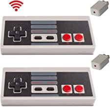 Wireless Controller for NES Classic Edition - with Build in Rechargeable Battery Gamepad Compatible with Mini NES, Nintendo Entertainment System Wireless Range up to 10 Meters by Honwally(2 Packs)