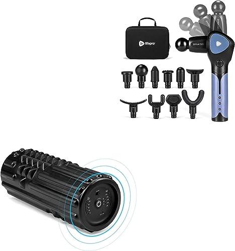 popular LifePro outlet sale Sonic Deep Tissue Massage popular Gun, and Vibrating Foam Roller Massager Bundle outlet sale