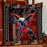 Confederate American History Quilt Blanket & Quilt Bedding Set, Comfort Warmth Soft Cozy Air Conditioning Machine Wash.