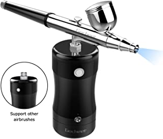Gocheer Professional Airbrush Kit, Mini Airbrush Single Action Model Airbrush Gun USB Rechargeable Air Brush Pen for Makeup Art Nail Painting Tattoo Manicure Cakes DIY Tool with Quiet Air Compressor