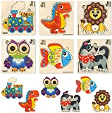 Toddler Puzzles for 1 2 3 Year Olds by Quokka - 6 Wooden Toys for Early Development of Boys and Girls Ages 2-4 - Babies Educational Games for Learning Animals - Present Handcrafted Gift for Children