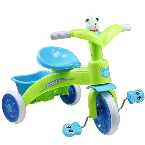 JZM VéLo Infantile De Tricycle De Walker De Tricycle De VéLo des Enfants avec La Musique LéGèRe,vert