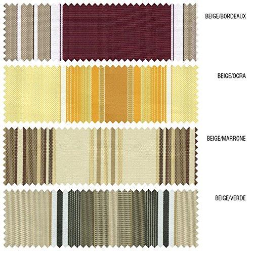 BIACCHI ETTORE SRL Tenda da sole a caduta 3x2,5 mt beige/bordeaux, beige/verde, beige/ocra, beige finestra o balcone MILOS (beige)