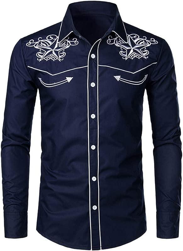 RoDeke Autumn Mens Printed Dress Shirts Long Sleeve Button Down Regular Fit Casual Fashion Shirt