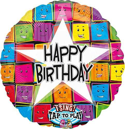 amscan 10118501 12645 01 Folienballon Sing-A-Tune Happy Birthday