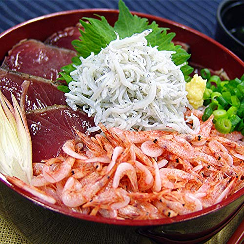 築地魚群 海鮮丼セット(マグロ、カツオ、桜えび、しらす) 冷凍便/商品代引不可