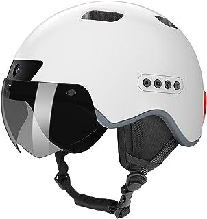 کلاه ایمنی بلوتوث KRACESS کلاه ایمنی هوشمند با ضبط رانندگی و عملکرد چراغ عقب LED برای کلاه ایمنی بلوتوث دوچرخه مردانه زنانه قابل جدا شدن از مسافران شهری
