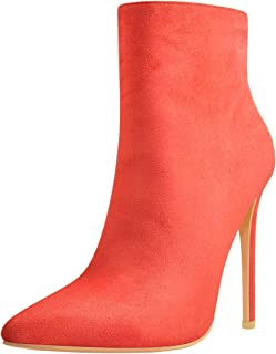 Ankle High Bootie for Women Pointy Toe Soft Autumn Dress Short Ankle Boots Shoes