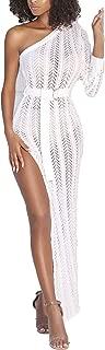Womens Sexy Off Shoulder Long Sleeve Hollow Out High Split Knit Dress Beach Pencil Party Maxi Dresss