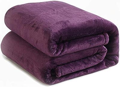 90524a1d45 Amazon.com  Bedsure Fleece Blanket Throw Size Navy Lightweight Super ...