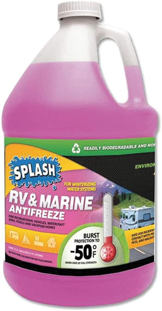 SPLASH 619526 Regular discount RV Credence Marine Pink 1 gal Antifreeze