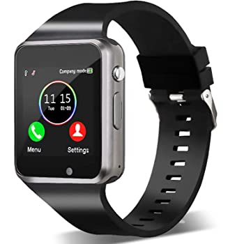 Smart Watch,Unlocked Touchscreen Smartwatch Compatible with Android/Bluetooth/iOS (Partial Functions) Call and Text Camera Notification Music Player Wrist Watch for Women Men(Black)