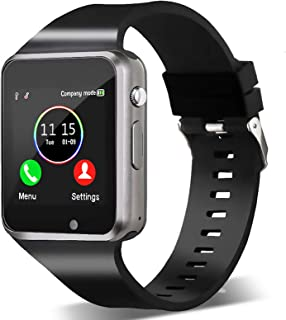 Bluetooth Smartwatch,Smart Watch Unlocked Watch Phone can Call and Text with Touchscreen Camera Notification Sync for Andr...