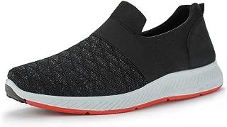 Hawkwell Men's Slip On Knit Lightweight Gym Athletic Walking Running Sneakers