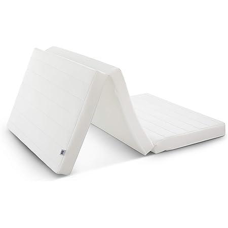 エアウィーヴ スマートZ01 マットレス シングル 三つ折り 高反発 厚さ9㎝ 日本製 洗える 折りたたみ 通気性 耐圧分散 涼しい 蒸れない 寝返り 畳 1-250011-1 ホワイト 収納