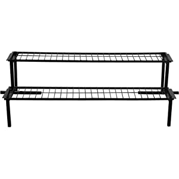 TrustBasket 2 Step Stand for Multiple Plants and Pots Stand, Indoor Shelf Holder Rack, Gardening Stand,Indoor Outdoor (Black)