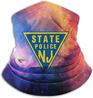NJ State Police Neck Warmer Outdoor Face Mouth Mask Shield for Dust Windproof Sports Mask Scarf Bandana
