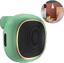 Portátil Mini Ventilador Calefactor, Cerámica PTC Calentador De Personal, Montado En La Pared Oficina De Escritorio Pequeño Baño De Agua Sacador (600/1000W),Verde