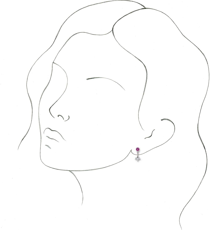 14k White Gold 1/4 CTW Diamond Cluster Front-Back Earring Jackets for Women