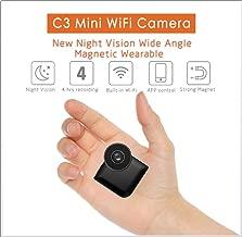 Maofalzzna C3 Mini WiFi IP Camera Wireless P2P Remote Control Night Vision Mini Camcorder Outdoor HD 720P Micro Action Mini SPY Camera Car,Home,Office,School,Shop,Indoor Outdoor Etc
