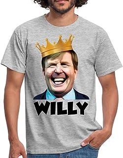 Spreadshirt Willy Koning Willem Alexander Koningsdag Feestje Mannen T-shirt