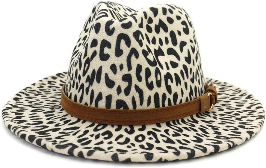Women Men's Fedora Hat Ladies Jazz Hat Black Wool Polyester Outdoor Church Hat Jazz Hat Fashion (Color : Cream, Size : 59-60cm)