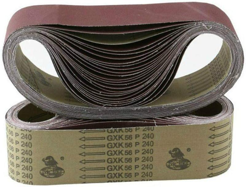 price CAIDAIYL NEW 10Pcs 61075mm Abrasive Band Belt Sanding Screen Sandin