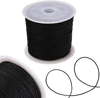 HAYQ Chinese Knot Cord 0.8mm Thread Nylon Cord Soft Macrame Rattail Bracelet Braided String DIY Beading Tassels Decorative...