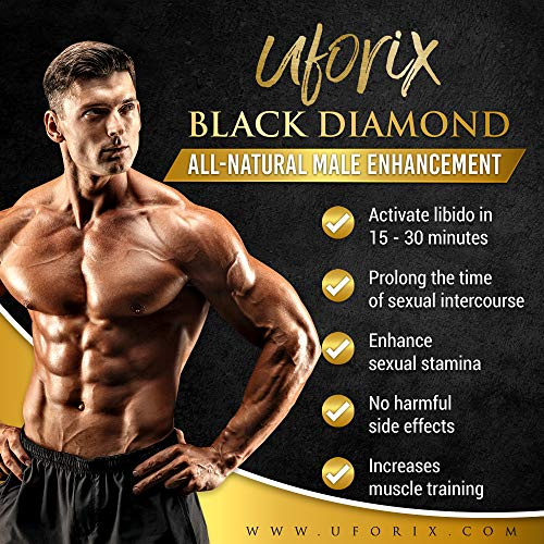 Uforix Black Diamond All-Natural Male Enhancement | Extra Strength for Sexual Stamina and Enhancement | Naturally Boost Your Libido, Stamina, Endurance, Strength & Energy |100% Natural