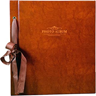 "Large Capacity Interstitial Photo Album, Retro PU Memorial Album Holds 1000 Photos 6X4(4R) 12.6""X14""X2.6"" (Color : Light Brown)"
