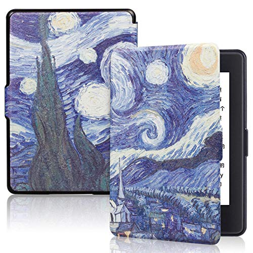 BENGKUI Estuche de impresión para Amazon Kindle 8th SY69JL 2016 Modelo PU Cuero Smart Cover con PC Back Tablet Cover E-Book Case para Kindle 8th,Starry Sky