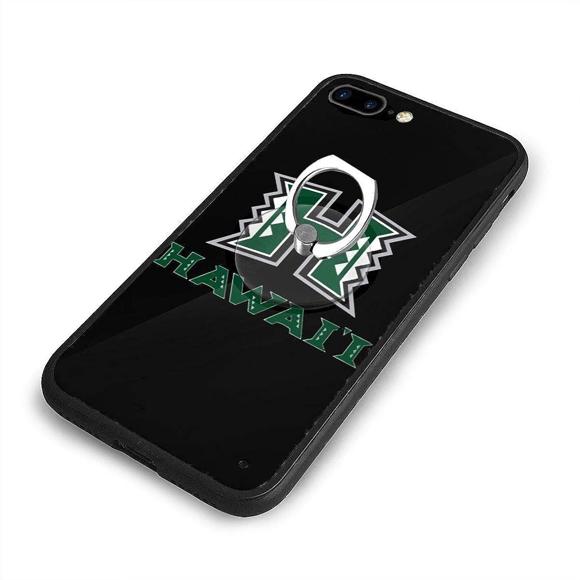 地殻マントエリートハワイ大学マノア校 ロゴ 01 iPhone 7/8 Plusケースリングブラケット 携帯カバー 創意デザイン軽量 傷つけ防止 360°回転ブラケット 携帯ケース PC 衝撃防止 全面保護