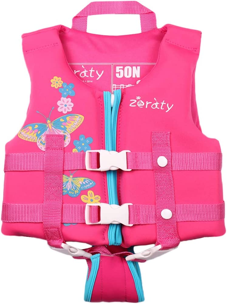 Suitable for 1-9 Year//22-50Lbs//Pink Zeraty Kids Swim Vest Life Jacket Toddler Float Jacket Boys Girls Floation Buoyancy Swimsuit with Adjustable Safety Strap
