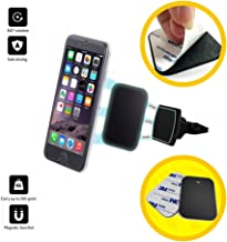 Universal Magnetic Phone Mount [ ExacTech ] – Air Vent Magnetic Car Holder Fast Swift-Snap Technology for Smart Phones and Mini Tablets.