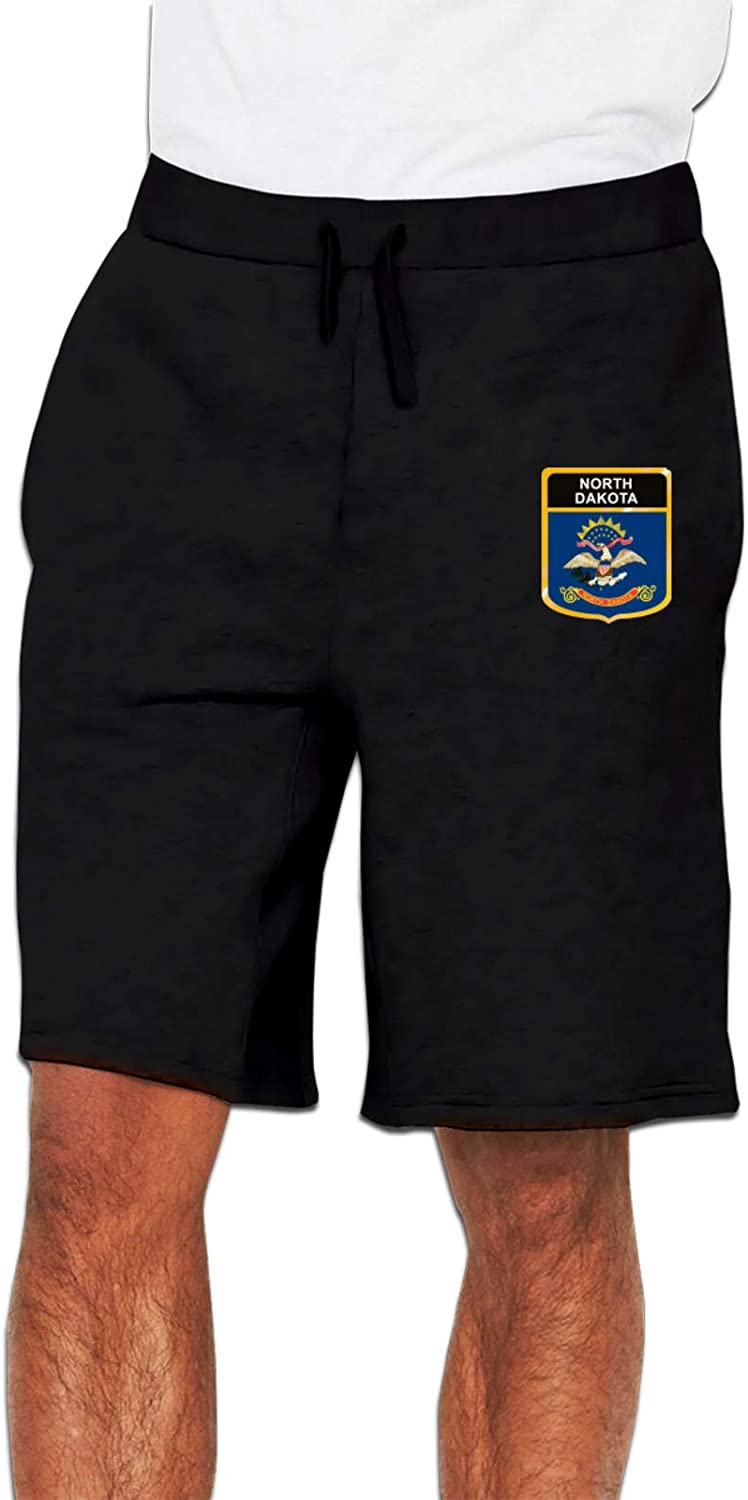 North Dakota Flag Crest Men's Cotton Shorts All items Al sold out. free shipping Sweatpants Joggers S