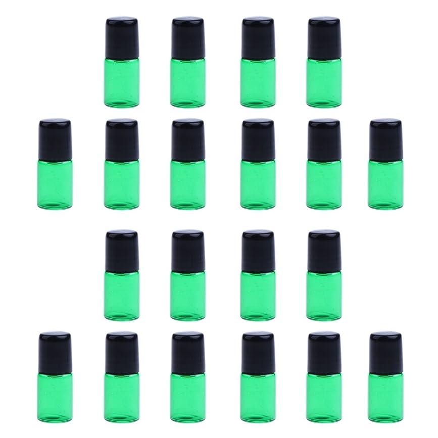 マニア羨望羊飼いFenteer 約20個 ガラスボトル 詰替え オイル 香水 ミニサイズ 旅行小物 出差 全4色3サイズ選べる - 1ML, 緑