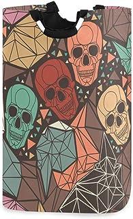 COFEIYISI Grand Organiser Paniers pour Vêtements Stockage,Crâne avec Ornement Polygonal géométrique,Pliable Sac à Linge,Pl...