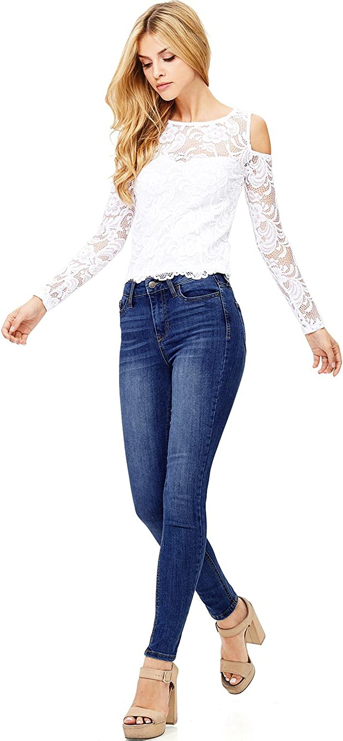 CelebrityPink Women's Juniors High Rise Ankle Skinny Jeans