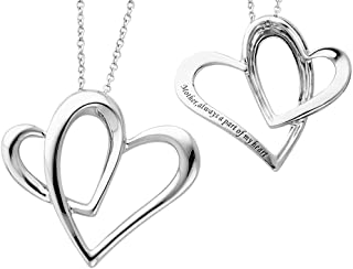 A Part of My Heart (Mother) Pendant Necklace in Sterling Silver with Chain