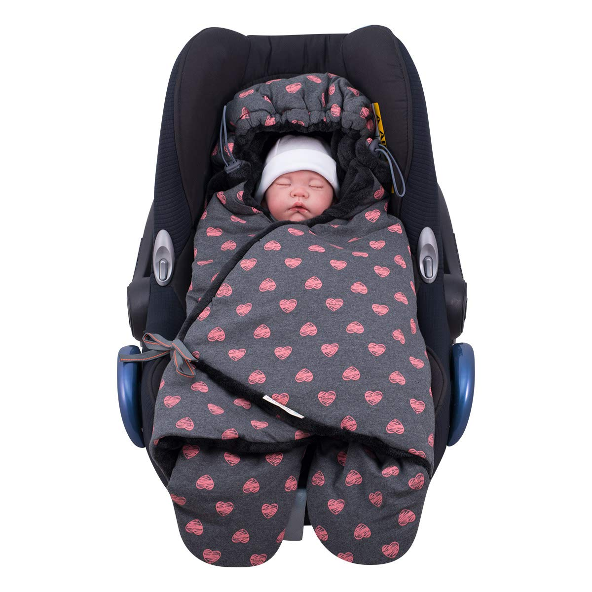 JANABEBE Universal foottmuff Baby Blanket Fluor Heart