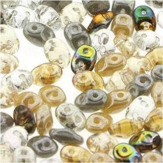 SuperDuo Moonstone Mix 2.5x5mm 2 Hole Beads Czech Glass Seed Beads 100 Gram Bag
