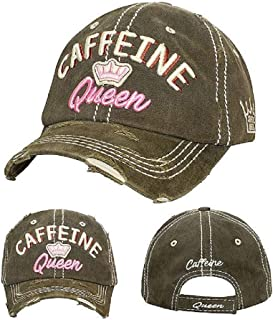 YK001 Faith Can Move Mountain Light Pink Washed Vintage Baseball Cap.