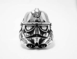925 Sterling Silver, Star Wars Stormtrooper Ring, Stormtrooper Ring, Star Wars ring, Geek Engagement Rings - Silver ring