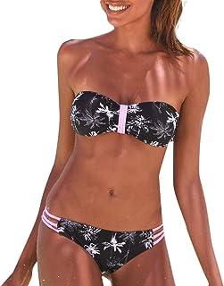 401c5050a8 Moonuy 2 PCS Femmes Bikini Set Femmes De La Mode Floral Print Maillots De  Bain Sexy