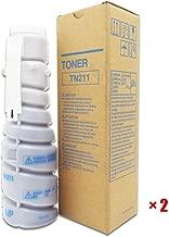 Cartucho de Toner Compatible para Konica Minolta TN211 Bizhub250 282 TN211 de tóner de Impresora, Negro para la Compañía Gobierno Local, aumentó la versión-Polvo importada,2black